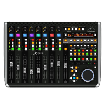 DAW Controller - A physical mixer for your digital audio workstation (DAW). Start/stop recording, adjust levels, edit FX and much more.