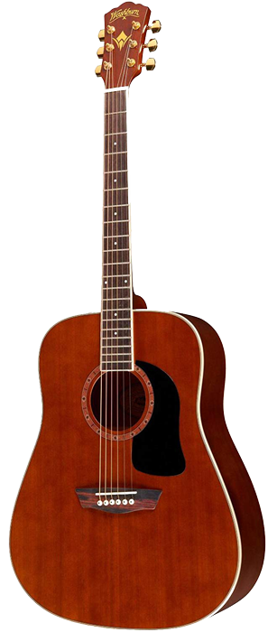 Washburn WD100DL - This guitar has stellar intonation. The fretboard is smooth to navigate and comes set up straight out of the factory.