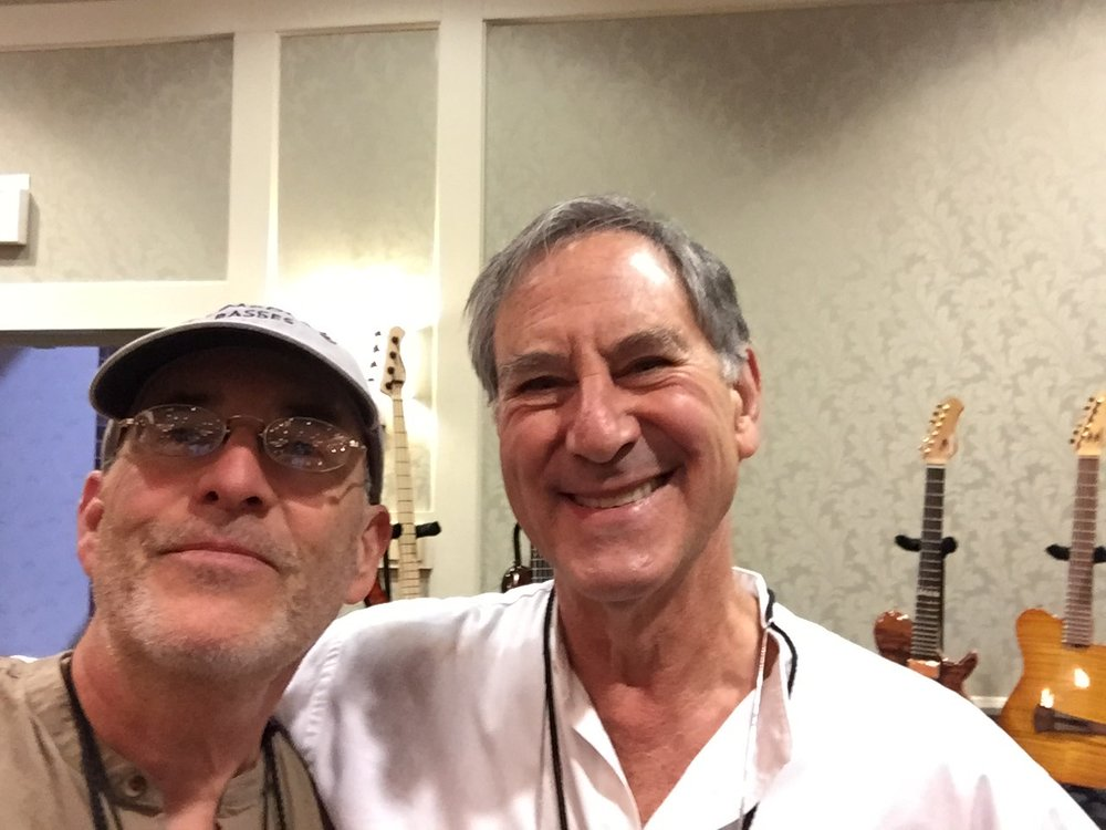 Friend and Mentor Roger Sadowsky and me Haming it up)!