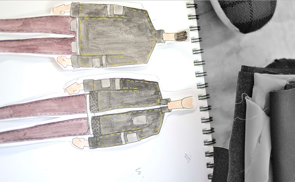 Quinci Wang参赛服装设计手稿:Easy Rider