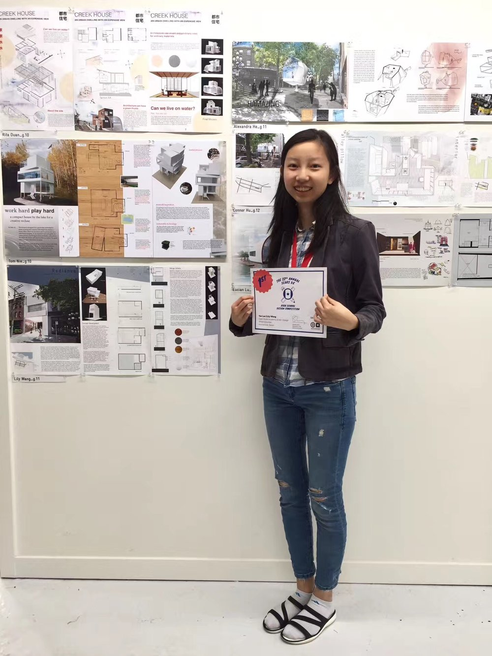 2017 Sears Competition Architecture Senior Level First Place Winner Lily Wang