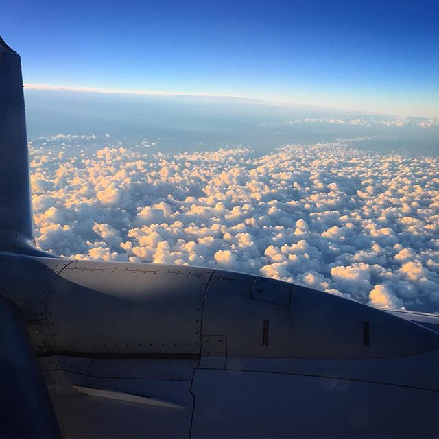 Floating on a mattress of clouds! #flyinghigh