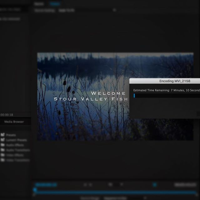 Stour valley fishing complex video exporting now... #videoedit #premierepro