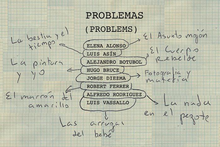 Problemas / Inauguración jueves 9 de junio/Espacio Valverde