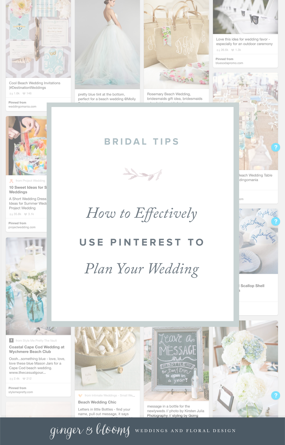Ginger and Blooms | How to Effectively Use Pinterest to Plan  Your Wedding