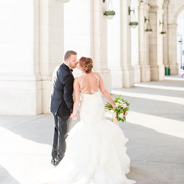 Illusion necklines and backs have quickly become a favorite for us! We love seeing the gowns our bride have selected and how they match their personalities so well 😍 Photo by @katelynjames