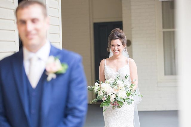 There are few things better than a brides smile during her wedding day! Can't wait to be a part of her sisters wedding as well in just a few weeks! Photo by @crystalmbelcher