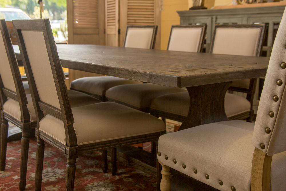 Kincaid Table and six chairs with stain resistant Sunbrella Fabric