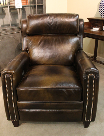 Power Recliner in Chesterfield Whiskey leather by Comfort Design