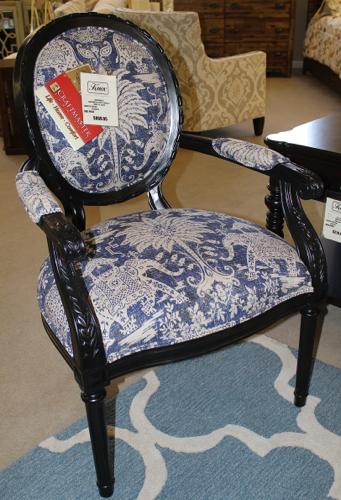 Craftmaster chair in Kalika blue fabric