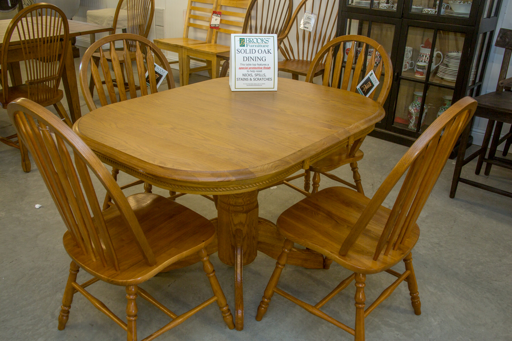 Brooks Solid Wood Table with 4 Chairs