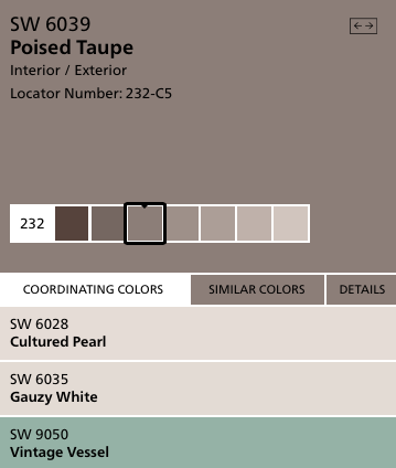 2017 Color of the Year Poised Taupe (image courtesy of Sherwin-Williams)