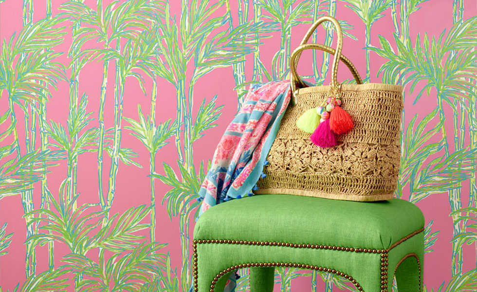 Wallcovering by Lilly Pulitzer for Lee Jofa