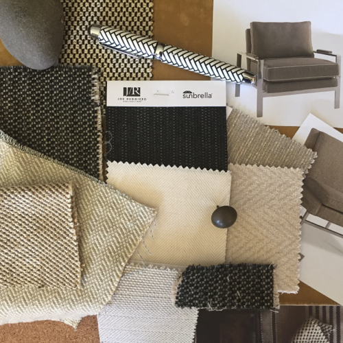 Joe Ruggiero Collection fabrics (photo courtesy of Sunbrella)