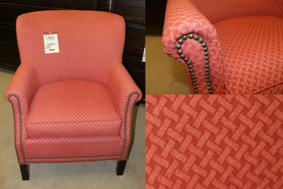 Craftmaster upholstered chair with nailhead trim