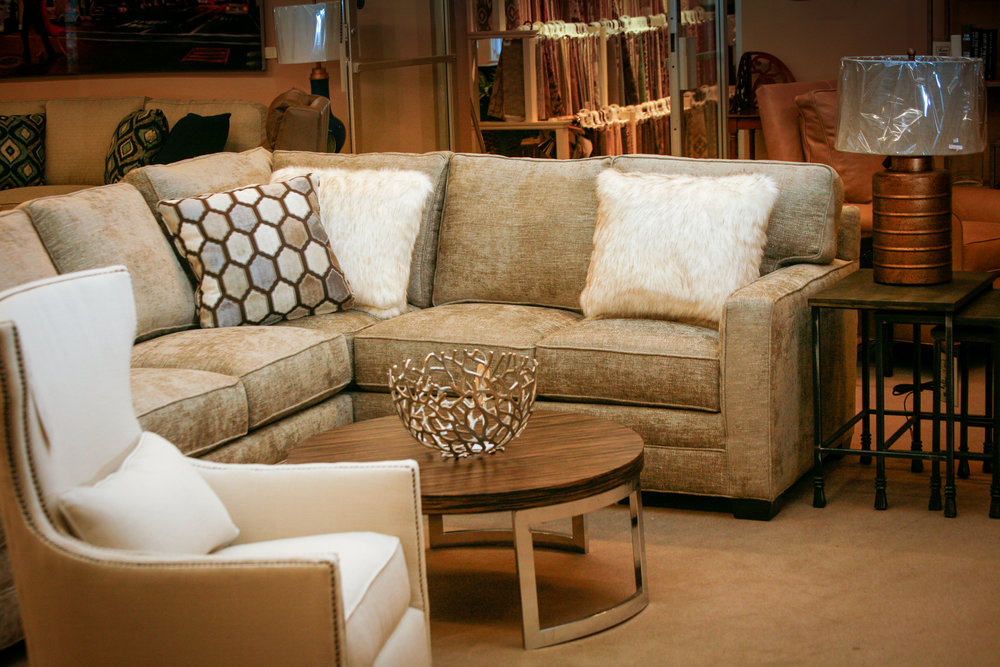 Huntington House Sectional with Huntington House Swivel Chair