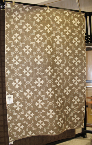 Dark taupe and ivory rug from Kaleen