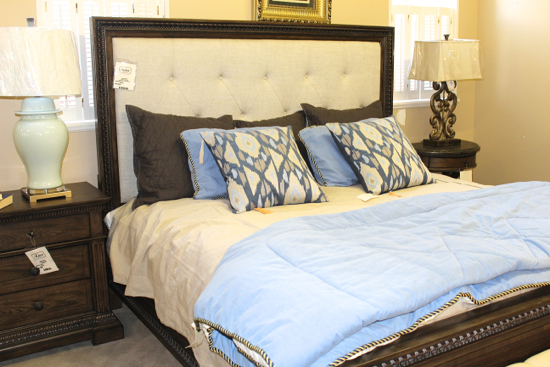Legacy Classic Furniture's Upholstered Panel King Bed