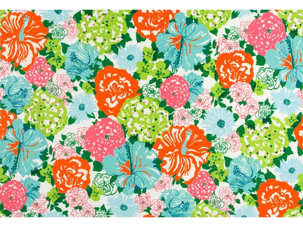 Lilly Pulitzer Heritage Floral II fabric (image courtesy of Lee Jofa)