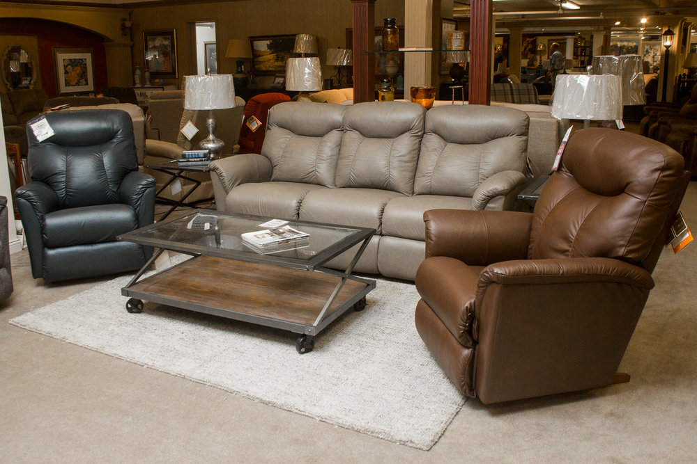 """Fortune Living Room"" from Lazboy. Suite comes in choice of three colors shown at the same price."