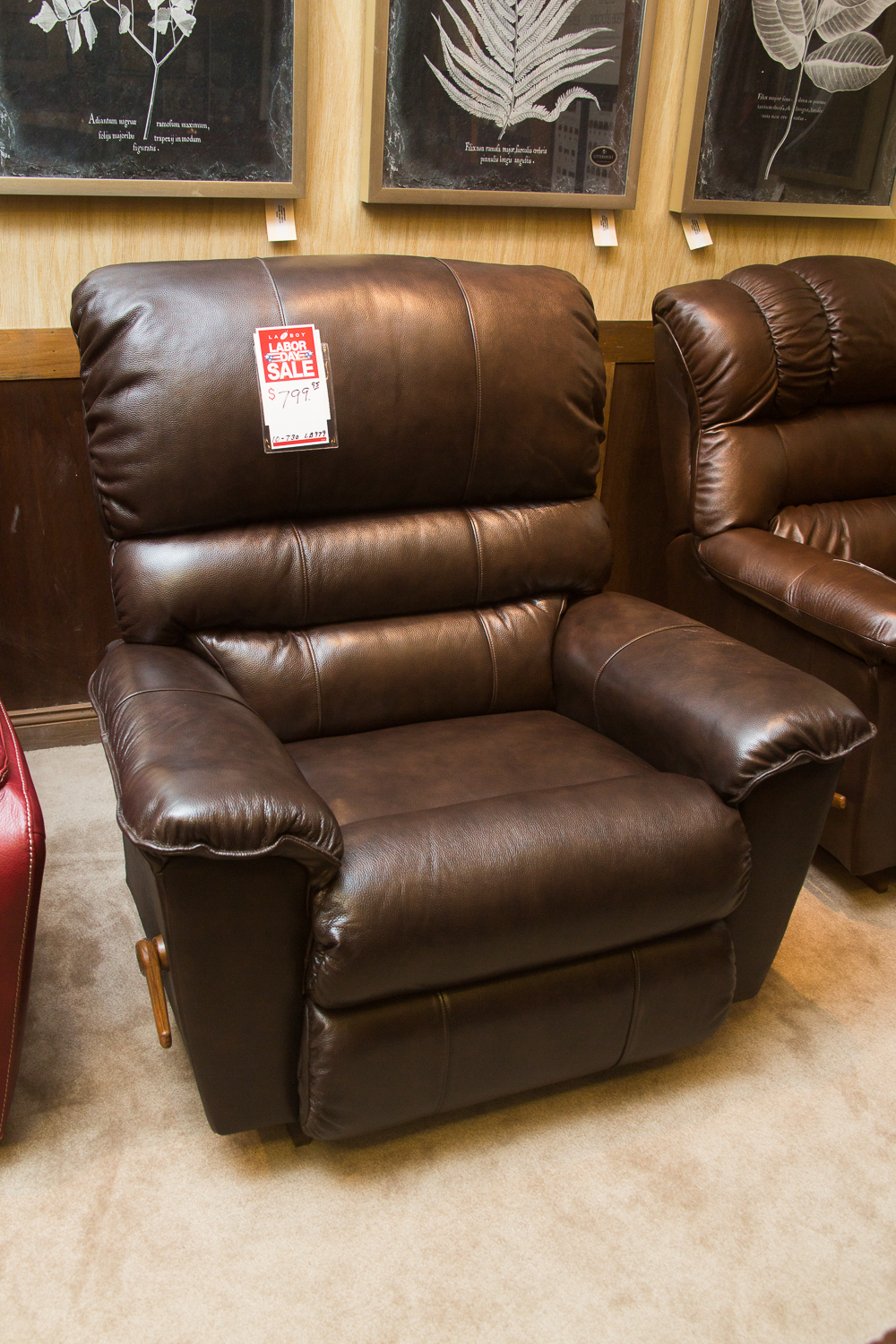 """Vince"" ""Big Man"" chair shown in brown leather"