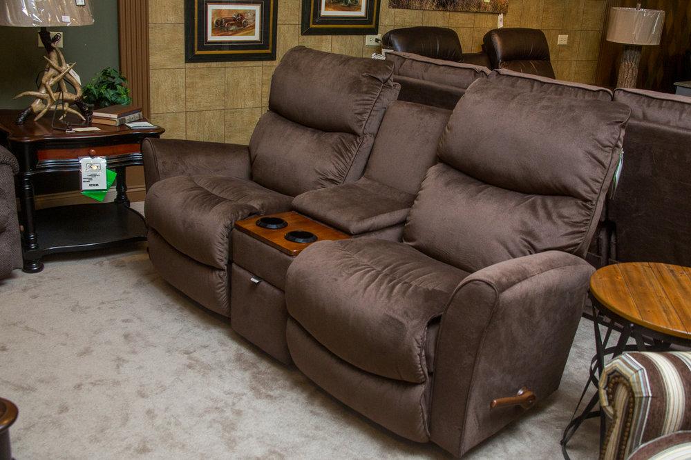 """Rowan"" reclining/gliding Lazboy love seat"