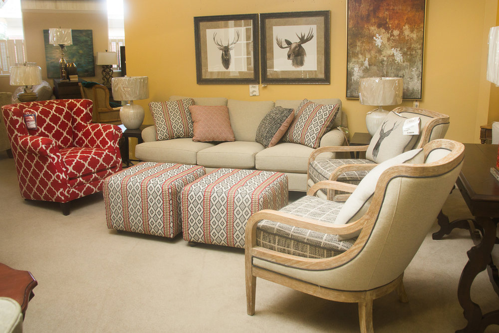 Craftmaster  Living Room pictured with a  Masterfield  Chair (Red).