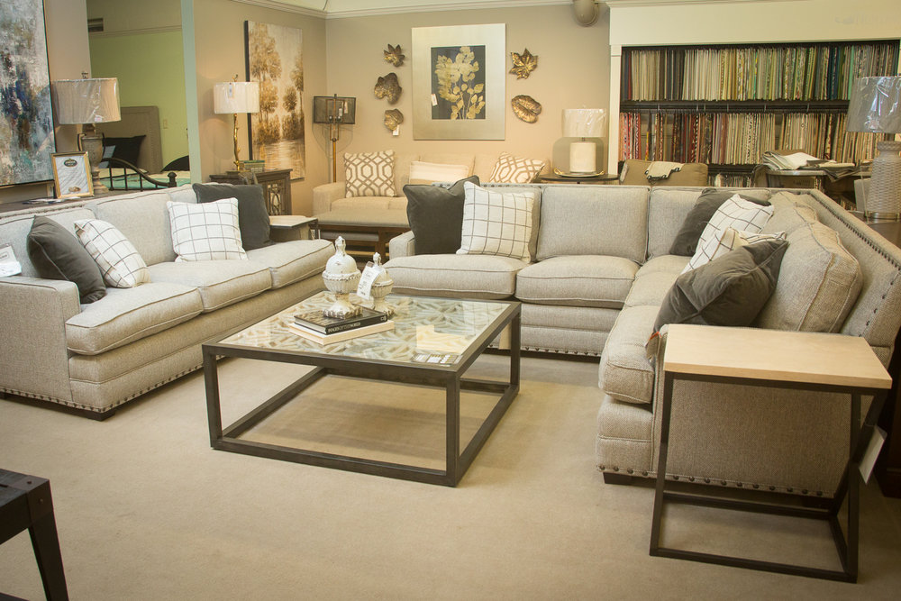 Universal Riley Sectional shown with matching sofa