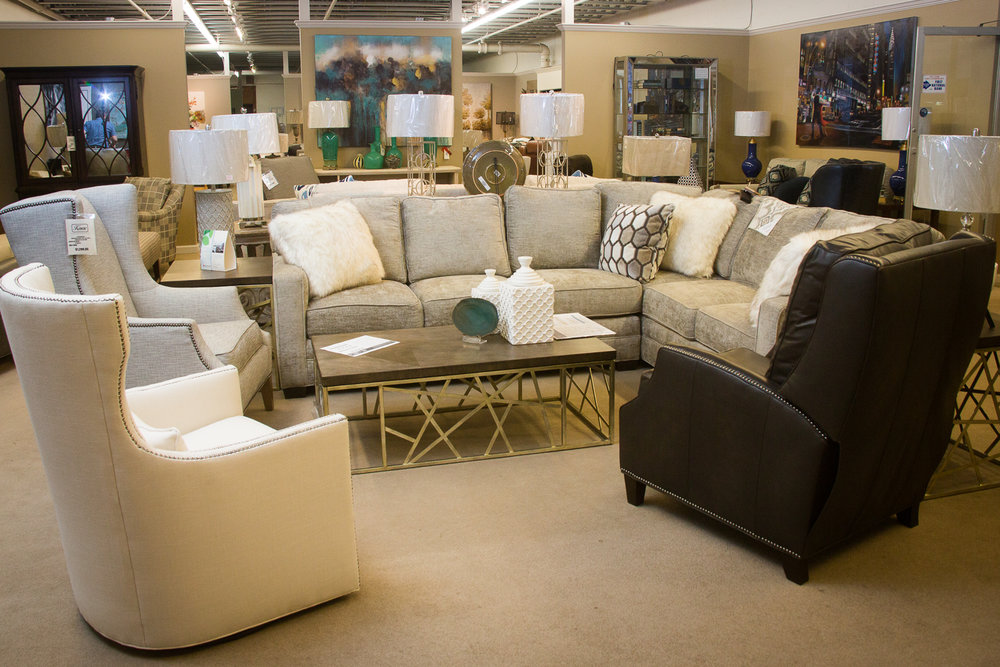 Huntington House Sectional and Chairs