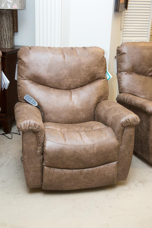 Lazboy James Power/Headrest/Lumbar Rocking Reclining Chair shown in Silt