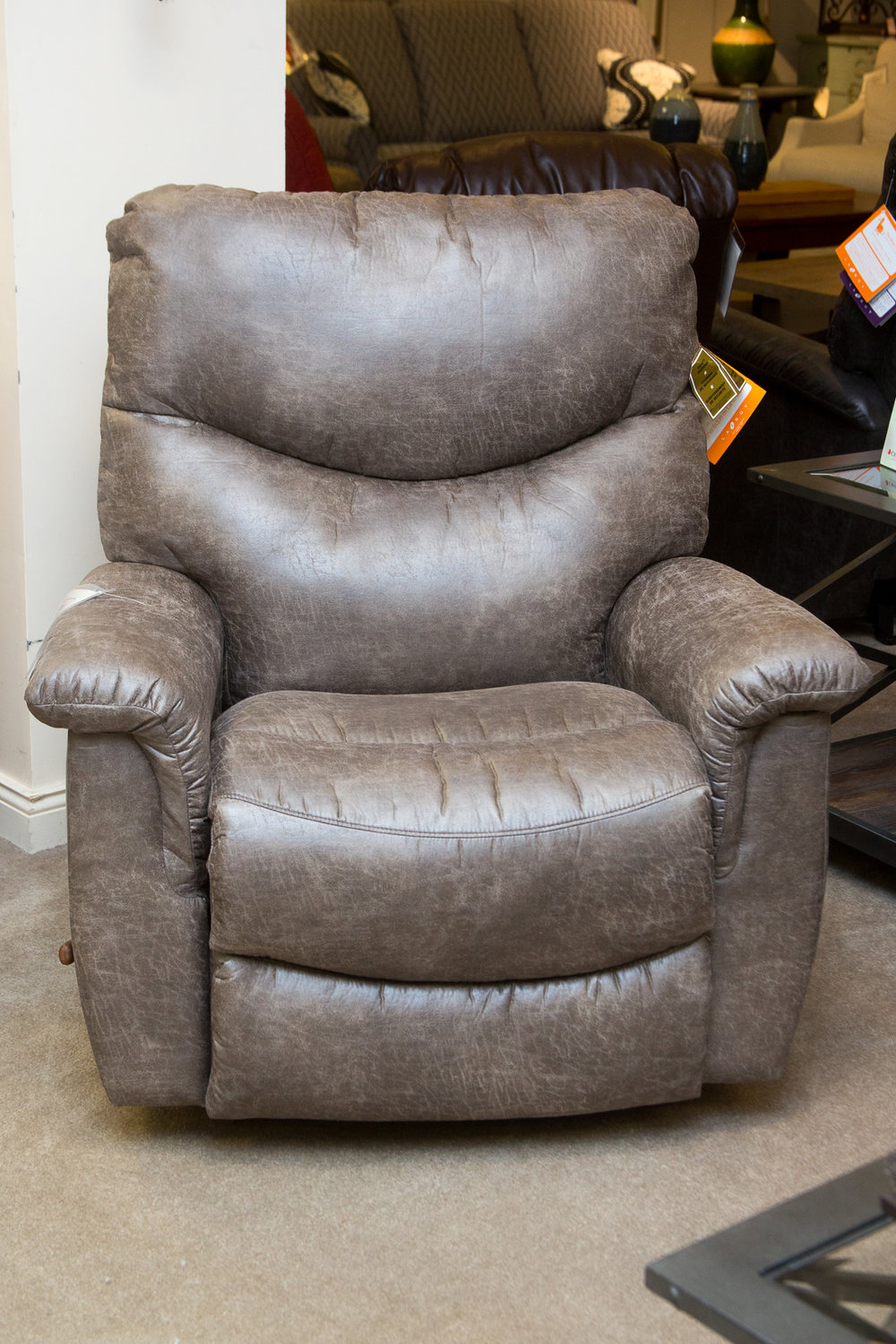 """Lazboy James Rocking Reclining Chair Shown in """"Marble"""""""