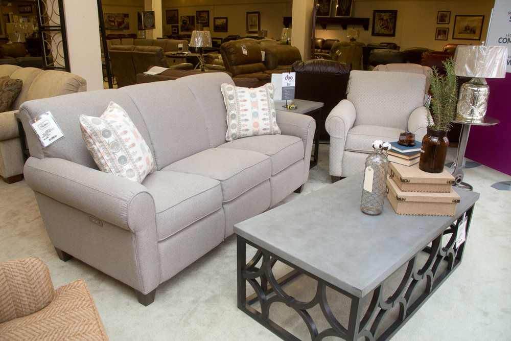 Lazboy DUO Bennett Reclining Sofa with Matching Reclining Chair