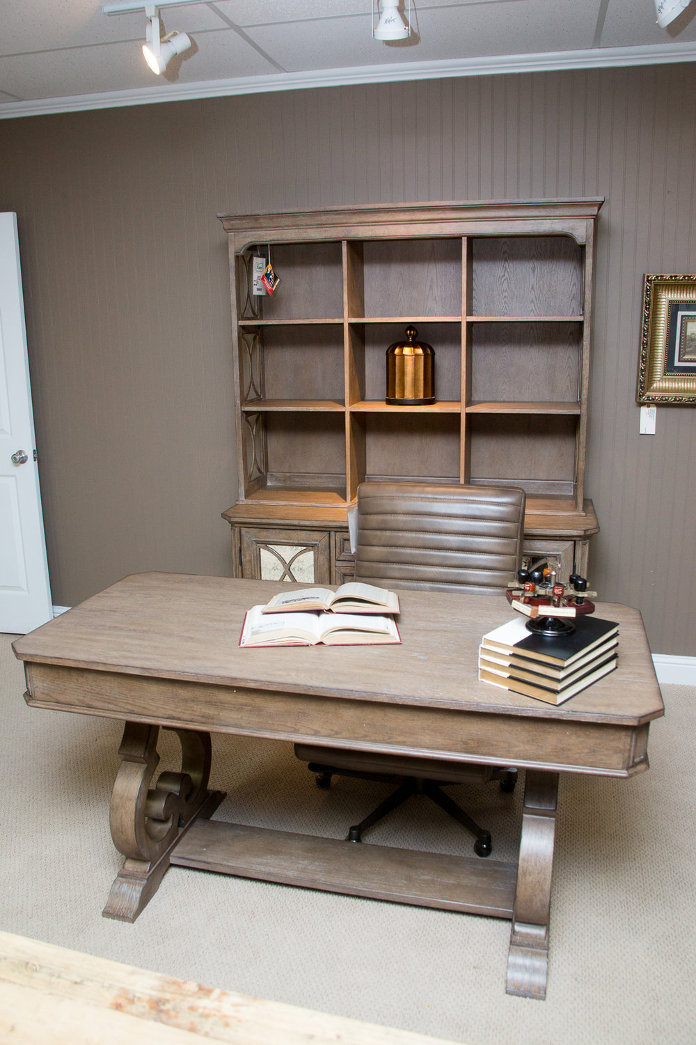 Magnussen Writing Desk with matching Credenza/Hutch