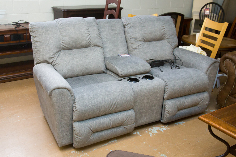 LAZBOY Easton Power Reclining Loveseat with Console