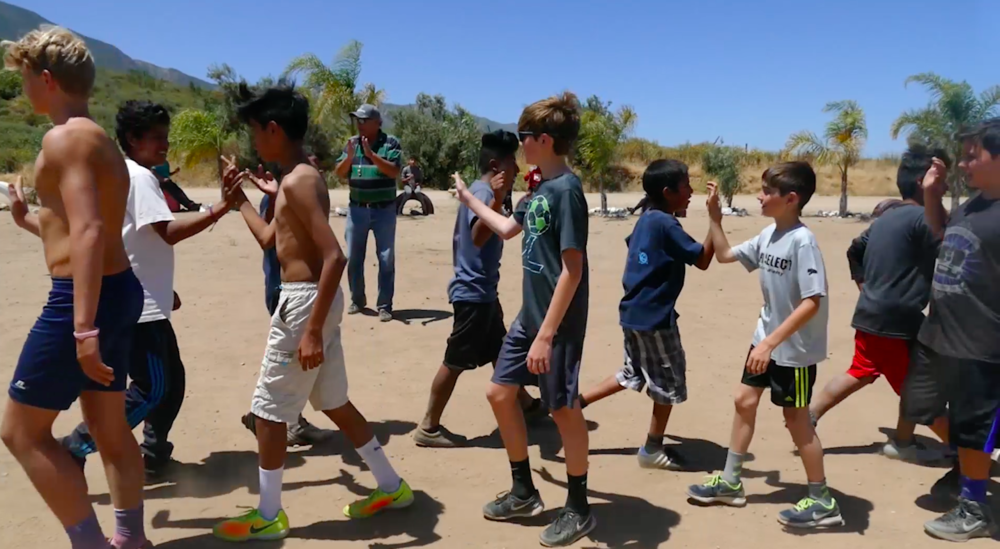 RVC Youth taking on the Esperanza Soccer Club of Maneadero, Baja California, in the first annual Baja Youth Charity Cup.
