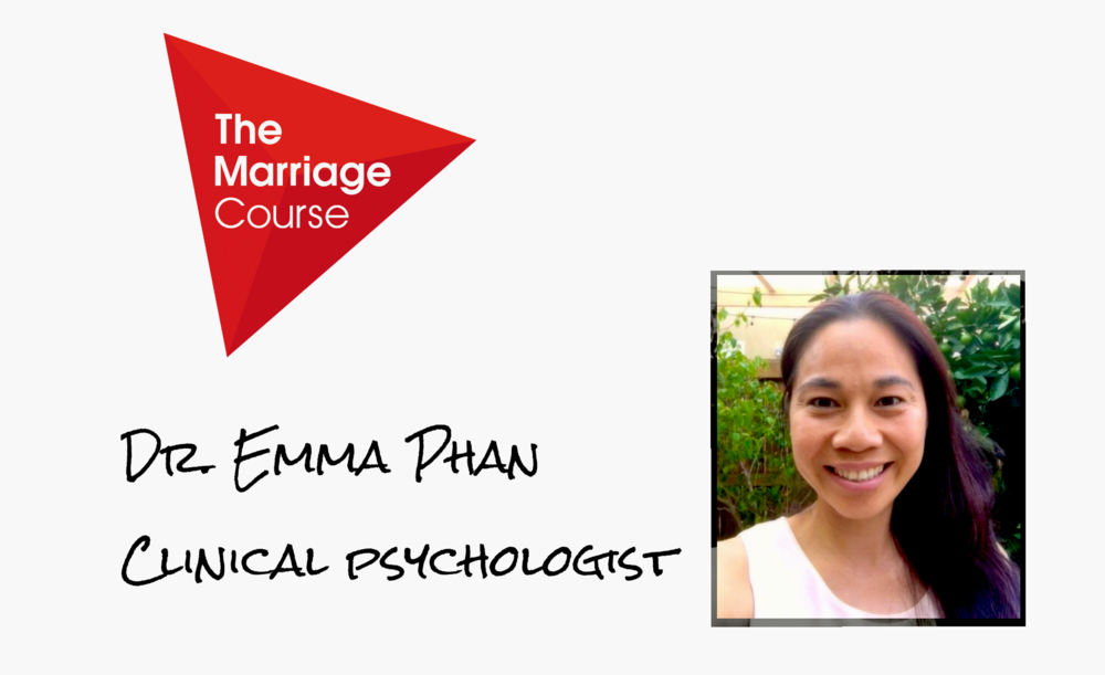 We are excited to announce that Dr. Emma Phan will be one of the presenters The Marriage Course Chula Vista Emma is a clinical psychologist with a private practice in Eastlake. She specializes in working with Asians, Asian Americans, and Pacific Islander families and individuals. Outside of work, Emma and her husband Tony enjoy spending time with their three young children, ages 5, 3, and 1.