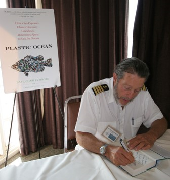 captain moore on the plastic ocean book tour, 2011