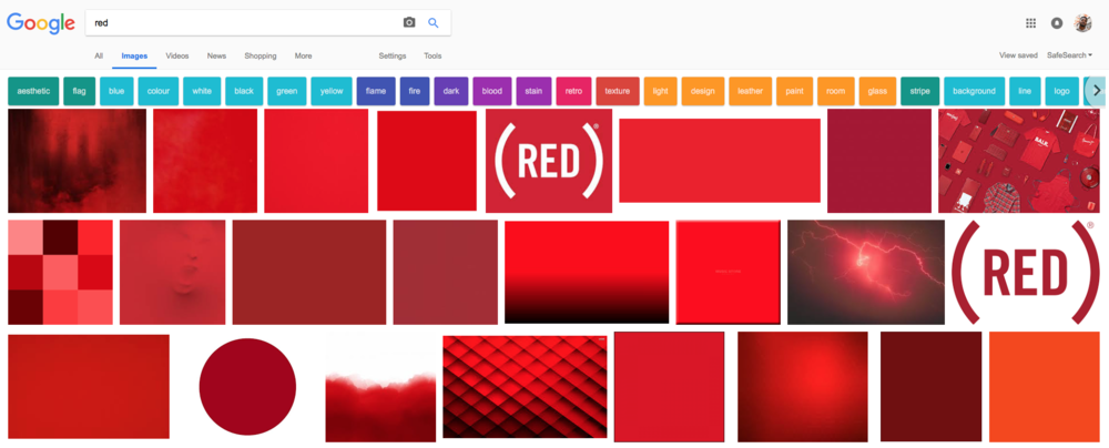 "Google Search for ""red"""