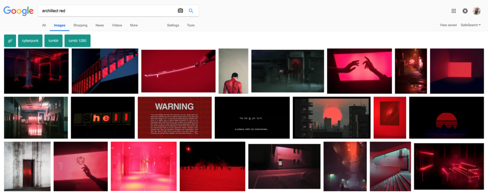 "Google search for ""archillect red"""