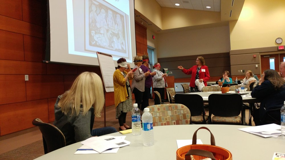 Kay Betz, MBA, facilitating a communication exercise.