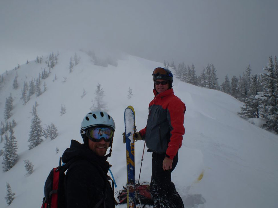 Image: Nate Piekielek and Tom Pick, Bridger Ridge, by T. Bass.
