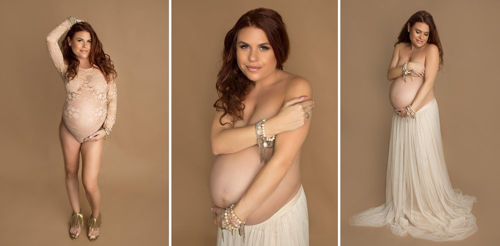 studio maternity portrait
