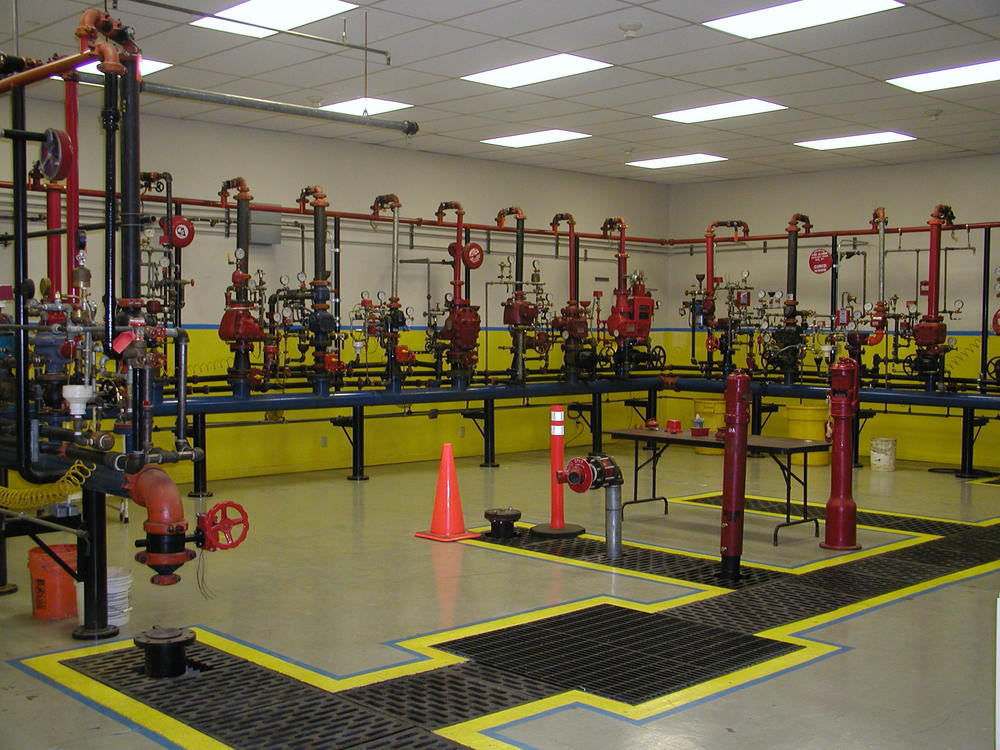 Valve room in our training center