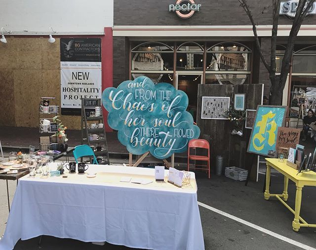 I had such a blast this past Sunday at the @dtrartwalk - So many amazing vendors just a great opportunity! - Thanks to everyone who came out! - #dtrartwalk #downtownredlands #artwalk #northernash #lettering