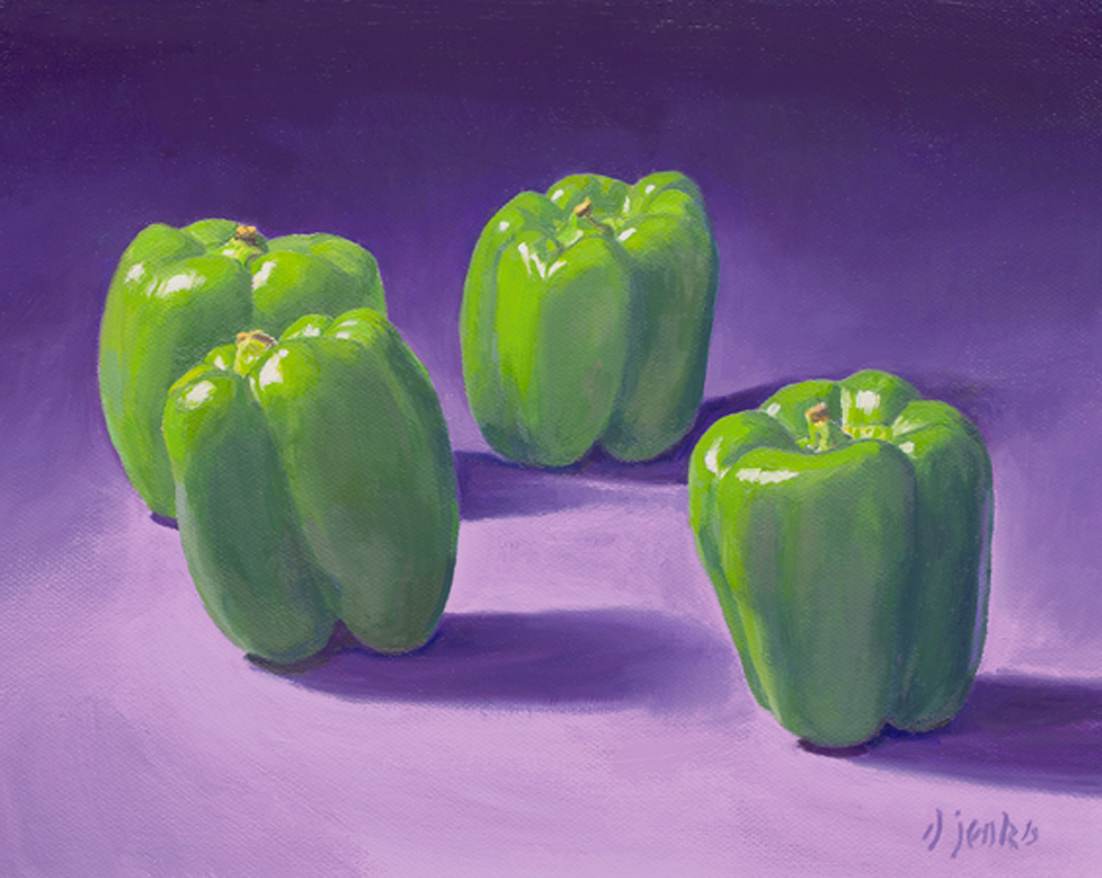 Peppers on Purple