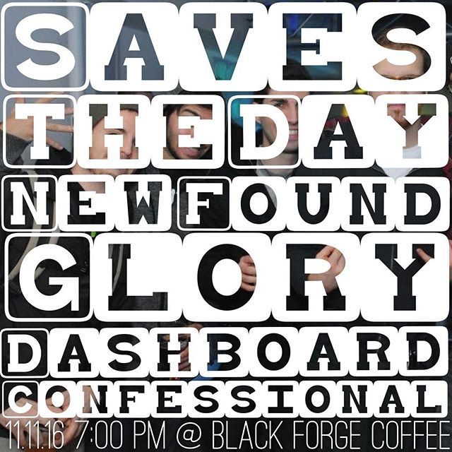 Your childhood dreams have come true 🛌 Don't sleep on it!  @savestheday #throughbeingcool  @newfoundglory #selftitled album @dashboardconfessional #allthehits  Performed by @maceballard, @lifeisshortpa & #theghostwrite  It's going down at @blackforgepgh  #classics #cover #show #poppunk #emo #throwback #attack #savestheday #newfoundglory #dashboardconfessional #album #party #extravaganza