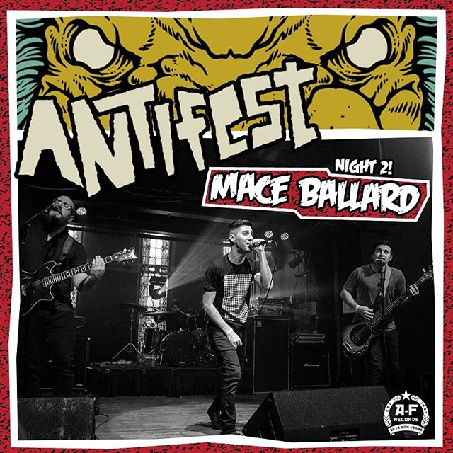 One week countdown! Can't wait to play night 2 of ANTIFEST - both nights are gonna rule, see you there. #afrecords #antifest