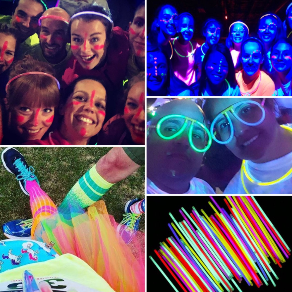 We would love to see you and your team go all out for the Glow Race!  Prizes will be given to the best dressed team!
