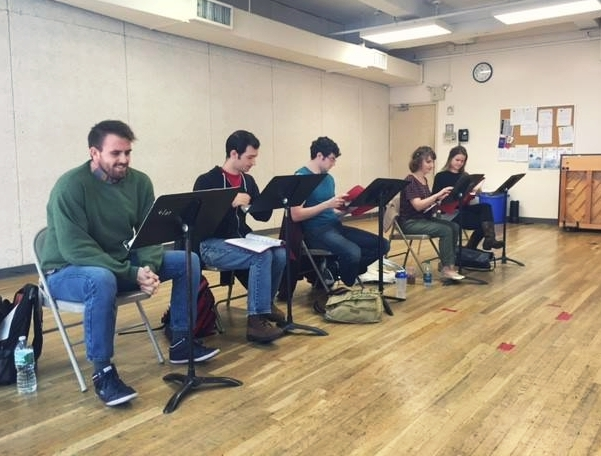 Brad and the touring cast of  The Lion, The Witch, and The Wardrobe  in rehearsal.  (2015 - New York, NY)