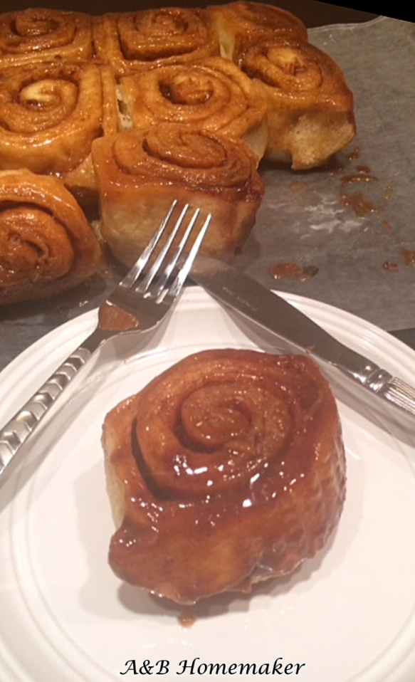 Cinnamon Rolls Plated